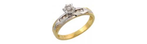 14k Yellow Gold Diamond Jewelry