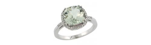 Gemstone & Diamonds Silver Rings