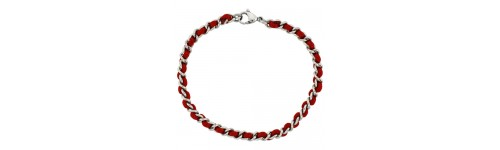 Women's Stainless Steel with Satin Cord Bracelets