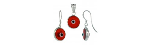 Evil Eye Earrings & Pendant Jewelry Sets