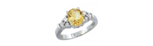 10k White Gold Citrine Rings