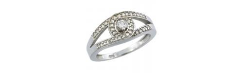 10k White Gold Ladies' Rings