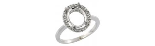 10k White Gold Semi-Mount Rings For Her
