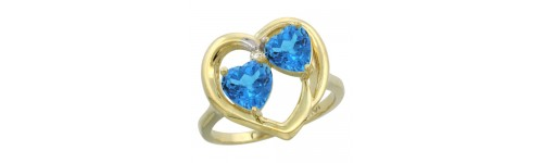 10k Yellow Gold 2-Stone Ladies' Rings