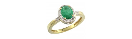 10k Yellow Gold Emerald Rings