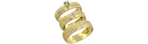 10k Yellow Gold Green Sapphire Rings
