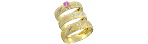 10k Yellow Gold Pink Sapphire Rings