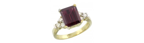 10k Yellow Gold Rhodolite Rings