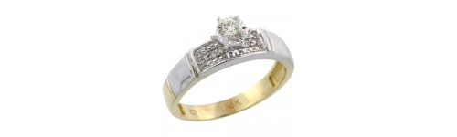 10k Yellow Gold Women's Solitaire Rings