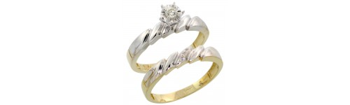 10k Yellow Gold 2-Piece Ladies' Rings