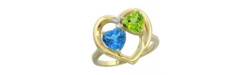 10k Yellow Gold 2-Stone Rings