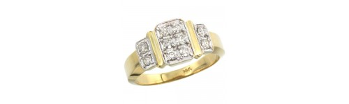 14k White Gold Men's Rings