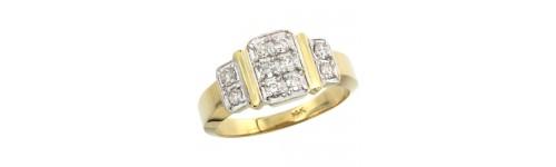14k White Gold Men's Rings