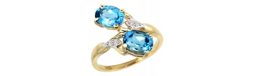 14k Yellow Gold 2-Stone Ladies' Rings