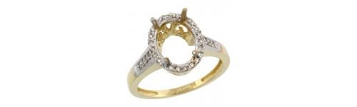 10k Yellow Gold Semi-Mount Rings