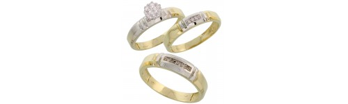 10k Yellow Gold Wedding & Engagement Sets