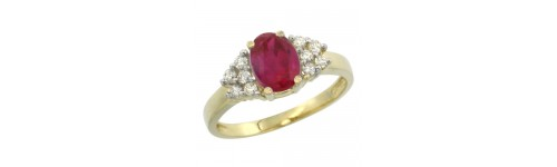 14k Yellow Gold Ruby Rings