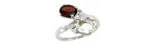 14k White Gold 2-Stone Rings