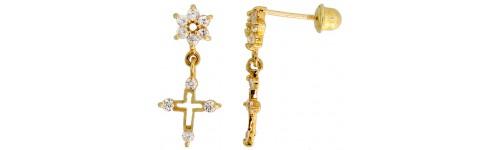 14k Yellow Gold Drop & Dangle Earrings