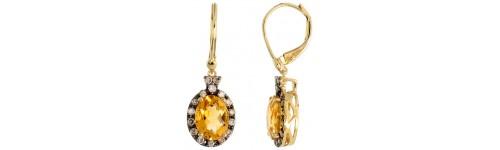 14k Yellow Gold Lever Back Earrings