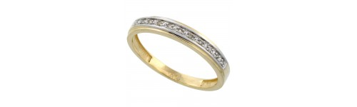 14k Yellow Gold Men's Bands