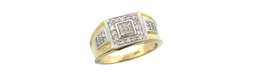 14k Yellow Gold Men's Rings