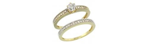 14k Yellow Gold Women's 2-Piece Rings
