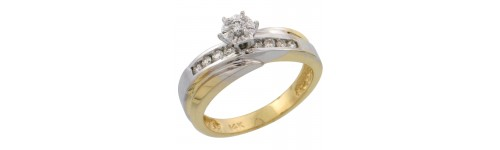 14k Yellow Gold Women's Solitaire Rings