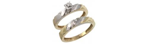 14k Yellow Gold 2-Piece Ladies' Rings