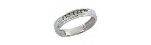 14k White Gold Rings for Men
