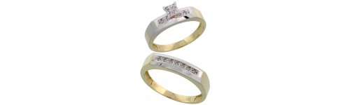 10k Yellow Gold His & Hers Rings