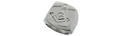 Men's Masonic Compass Design Rings