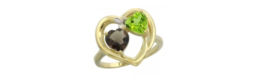 14k Yellow Gold 2-Stone Rings