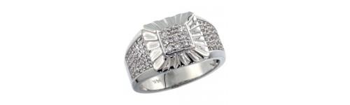 Men's 14k White Gold Rings