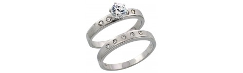 Sterling Silver Ring Sets