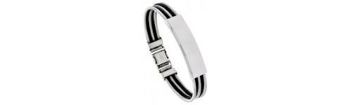 Stainless Steel & Rubber Bracelets