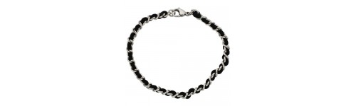 Stainless Steel with Satin Cord Bracelets