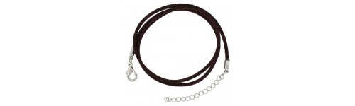 Stainless Steel Silk Cord with Stainless Steel Clasp