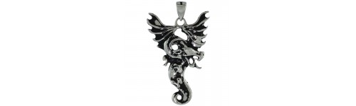 Stainless Steel Dragon Pendants
