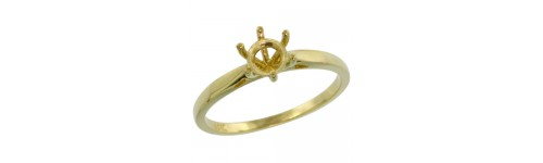 14k Yellow Gold Semi-Mount Rings