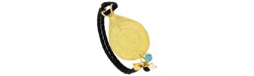 Sterling Silver Islamic Leather Bracelets
