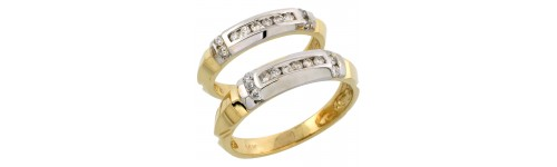 14k Yellow Gold Wedding & Engagement Sets