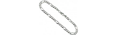 Sterling Silver Figaro Chains