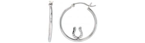 Sterling Silver Equestrian Earrings
