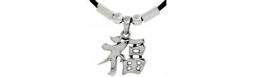 Sterling Silver Chinese Characters Pendants