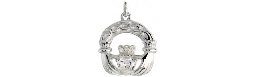 Sterling Silver Claddagh Pendants