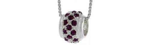 CZ Stone Bead Charms