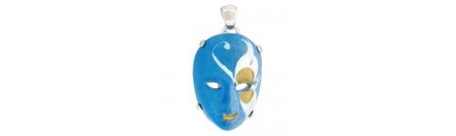 Sterling Silver Masks Pendants