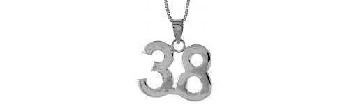 Sterling Silver Numbers Pendants