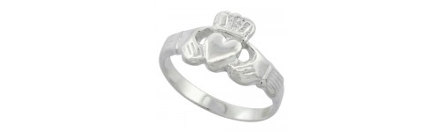 Sterling Silver Claddagh & Celtic Rings